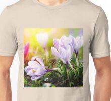 Crocus Easter Flowers Unisex T-Shirt