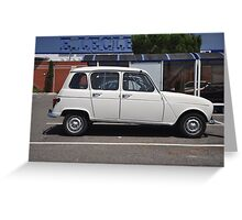 "Renault 4, ""Quatrelle"" Greeting Card"