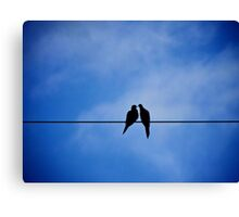 ...and kiss your worries away Canvas Print