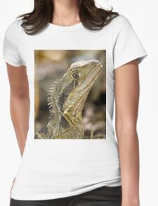Eastern Water Dragon Womens Fitted T-Shirt