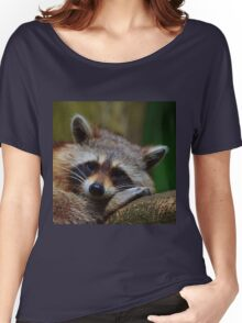 Raccoon Face Women's Relaxed Fit T-Shirt