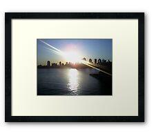 Manhattan Sunrise Framed Print