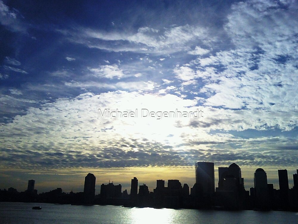 Manhattan Silhouette by Michael Degenhardt
