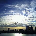Manhattan Silhouette by Michael Degenhardt