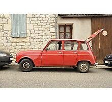 """Renault 4, """"Quatrelle"""", Red Photographic Print"""