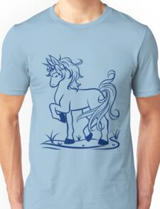 Minimal Unicorn Dark Blue Unisex T-Shirt
