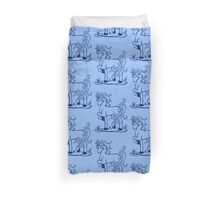 Minimal Unicorn Dark Blue Duvet Cover