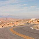 Desert curvy road by Henry Plumley
