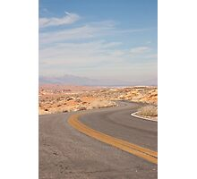 Desert curvy road Photographic Print