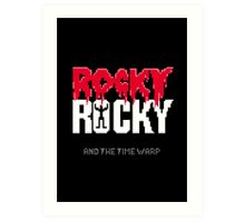 Rocky, Rocky and the Time Warp Art Print
