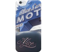 Alice At The Blue Swallow Motel iPhone Case/Skin