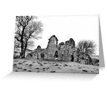Ruins of Pendragon Castle  - Cumbria Greeting Card