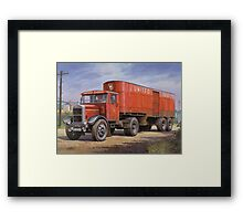 Scammell van United Dairies. Framed Print