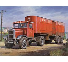 Scammell van United Dairies. Photographic Print