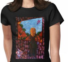 """Study to """"Waiting"""" Womens Fitted T-Shirt"""