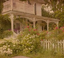 House with the white picket fence by Steve Silverman