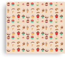 Dessert Pattern Canvas Print