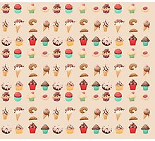 Dessert Pattern Photographic Print