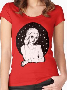 Lonely boy. By Ane Teruel Women's Fitted Scoop T-Shirt