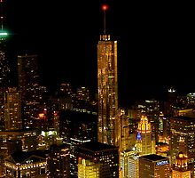 Chicago at Nighttime by Zachary Babich