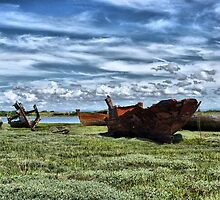 Wyre Estuary Wrecks . by Lilian Marshall