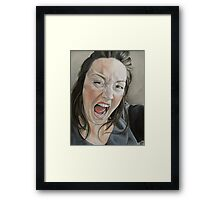 Bad day?? Framed Print
