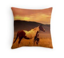 Precious Paint Throw Pillow