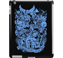 Old Friends (blue) iPad Case/Skin
