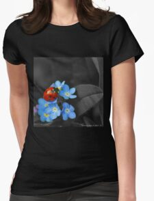 Ladybug and Violets Womens Fitted T-Shirt