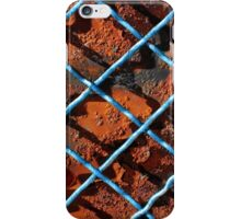 Vintage net background of rusty iron net iPhone Case/Skin