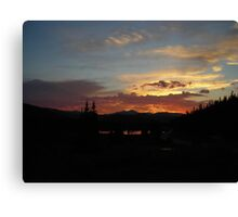 Echo Lake Sunset CO Canvas Print