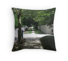 Shady Sidewalk Throw Pillow