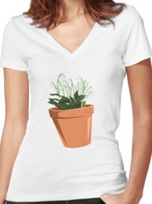 Breaking Bad - Lilly of the Valley Women's Fitted V-Neck T-Shirt
