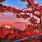 SUNSET,CRATER LAKE  by Chuck Wickham