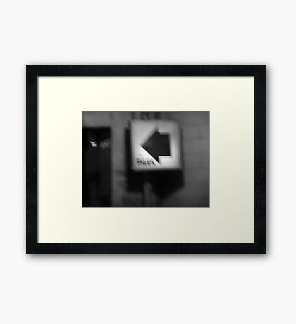 Night Motion III: Parking That Way Framed Print