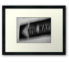 Night Motion VIII: This Way Framed Print