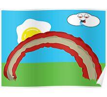 Bacon Rainbow Poster