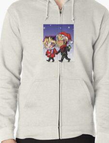 puzzleshipping Yu-Gi-Oh! Christmas Zipped Hoodie