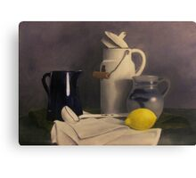 Stillife with lemon Canvas Print
