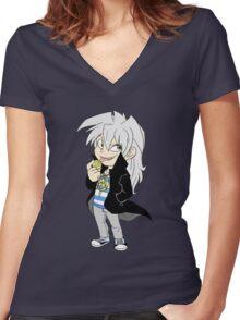 Yami Bakura Yu-Gi-Oh!  Women's Fitted V-Neck T-Shirt
