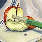 Apple For A Snack by Amy-Elyse Neer