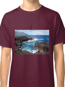 Blue Ocean Waters of Queens Bath on Kauai Hawaii Classic T-Shirt