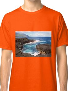 Blue Ocean Waters of Queens Bath on Kauai Hawaii Classic T-Shirt