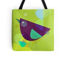 Abstract Purple Bird Tote Bag