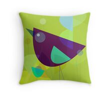 Abstract Purple Bird Throw Pillow
