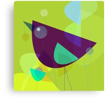 Abstract Purple Bird Canvas Print