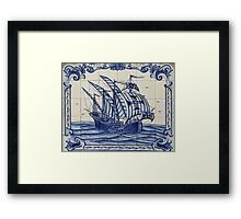 Portuguese Ship Tiles Framed Print
