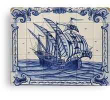 Portuguese Ship Tiles Canvas Print