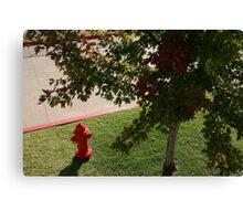 Little Red Fireman Canvas Print