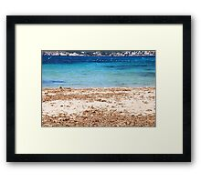 Land and sea......... Framed Print